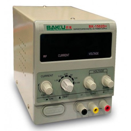 Fuente de alimentación regulable digital BAKU-1502D+