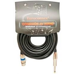 Cable XLR hembra a Jack 6.35 mono macho