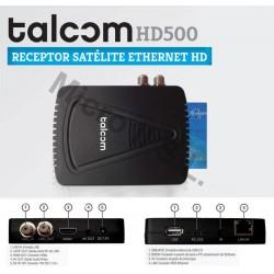 Receptor Satélite Talcom HD500W